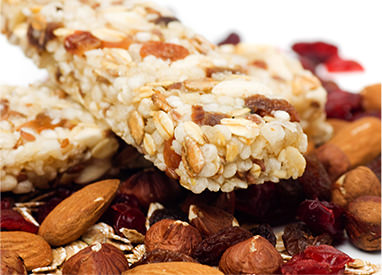Snack bars and nuts